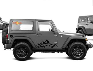 2pcs MOUNTAIN Fender Side Decal Sets Graphic JEEP WRANGLER RUBICON SAHARA n4