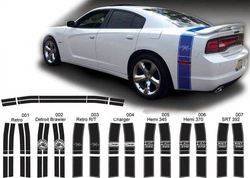 Dodge Charger Trunk Band Decal Sticker Complete Graphics Kit fits to models 2011-2014
