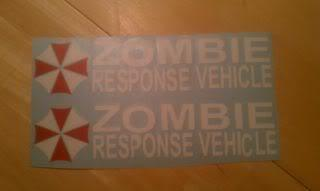 Jeep Rubicon Wrangler Zombie Outbreak Response Team Wrangler Decal#12