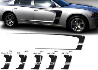 Dodge Charger C Stripe Hemi RT 345 370 392 Decal Sticker Complete Graphics Kit fits to models 2011-2014