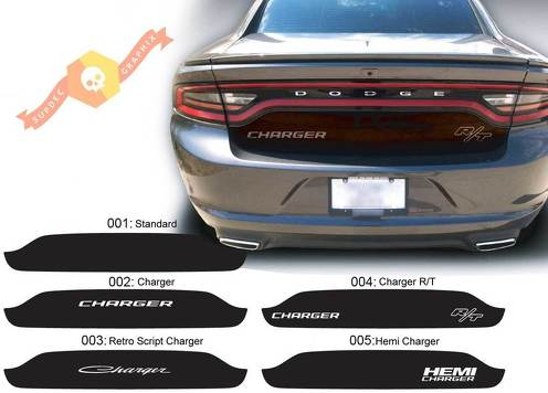 Dodge Charger Trunk Blackout Hemi RT Decal Sticker Complete Graphics Kit fits to models 2015-2017