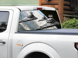 Star Destroyer Star Wars Rear Window Decal Sticker Pick-up Truck SUV Car any size