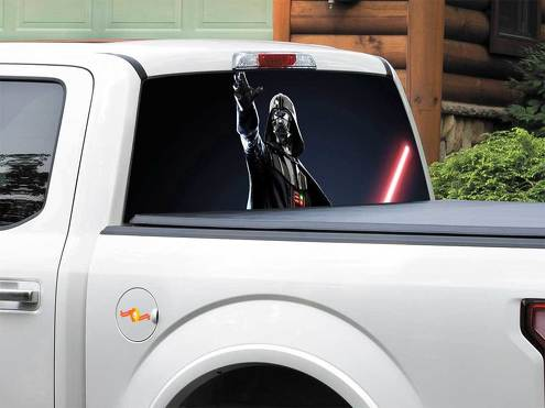 Darth Vader Lightsaber Star Wars Rear Window Decal Sticker Pick-up Truck SUV Car any size