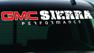 WINDSHIELD DECAL BANNER Fits GMC SIERRA 1500, 2500 HD, 3500 HD
