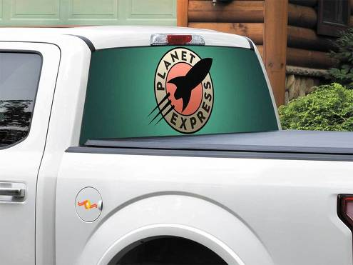 TV Show Futurama Rear Window Decal Sticker Pick-up Truck SUV Car any size