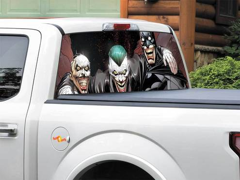 Alfred Pennyworth Batman Joker DC comics Rear Window Decal Sticker Pick-up Truck SUV Car any size