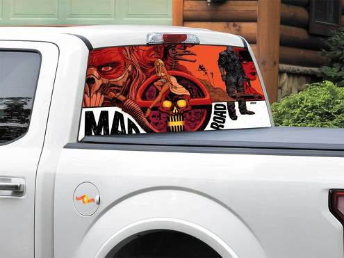 Mad Max Rockatansky Fury Road Immortan Joe Rear Window Decal Sticker Pick-up Truck SUV Car any size