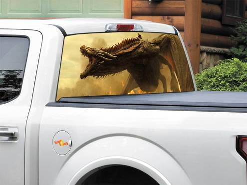 Daenerys Targaryen Dragon Emilia Clarke Game Of Thrones Rear Window Decal Sticker Pick-up Truck SUV Car any size