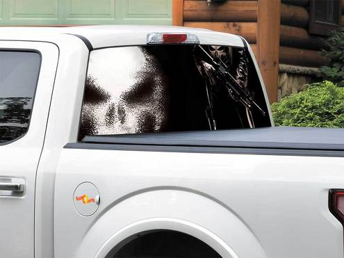 Punisher Marvel comics Rear Window Decal Sticker Pick-up Truck SUV Car any size