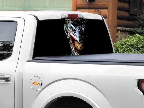 Artistic Comics Creepy DC Comics Dark Joker  Rear Window Decal Sticker Pick-up Truck SUV Car any size