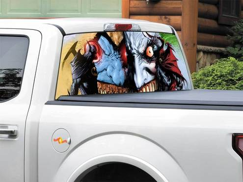 Batman Joker Spawn DC Comics Rear Window Decal Sticker Pick-up Truck SUV Car any size