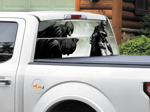Batman defeated DC Comics Rear Window Decal Sticker Pick-up Truck SUV Car any size 2
