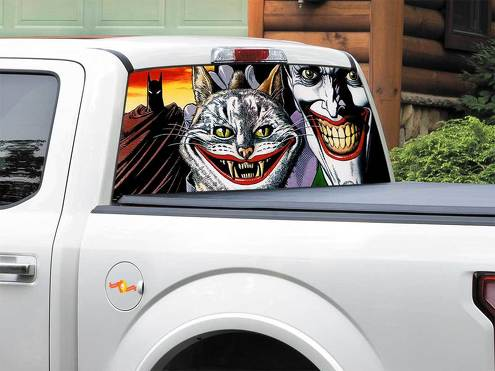 Batman cat Joker DC Comics Rear Window Decal Sticker Pick-up Truck SUV Car any size 2