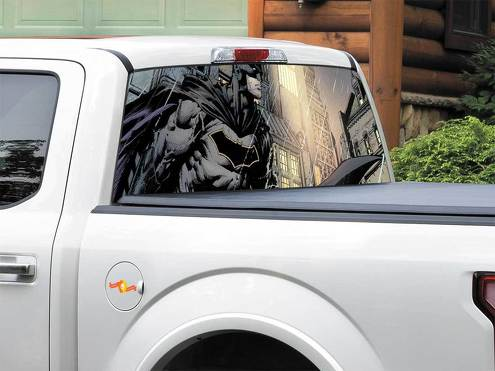 Batman DC Comics art Rear Window Decal Sticker Pick-up Truck SUV Car any size