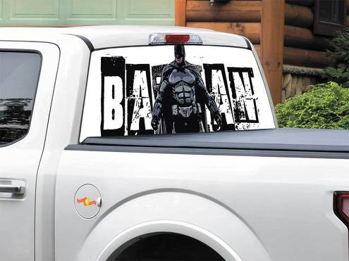 Batman logo DC Comics art Rear Window Decal Sticker Pick-up Truck SUV Car any size