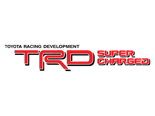 2 TOYOTA TRD SUPERCHARGED DECAL TRD racing development side vinyl decal sticker