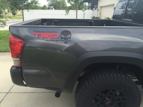 2 - TRD Punisher EDITION Truck Car Decal 2 Color - Vinyl decal Outdoor vinyl