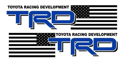 2 Truck Car Decal - (2color) TRD USA EDITION Alternate -Vinyl decal Outdoor vinyl