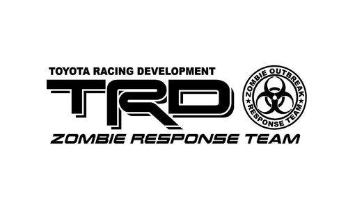 2 - Truck Car Decal TRD ZOMBIE RESPONSE - Vinyl decal Outdoor vinyl
