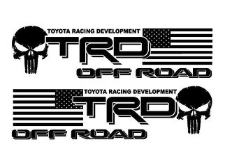 2 - TRD USA Punisher OFF ROAD EDITION Decal - Vinyl decal Outdoor vinyl