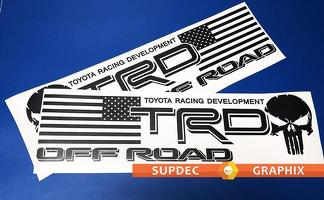 Pair of TRD USA Punisher Bed Side OFF ROAD EDITION Decal - Vinyl decal Outdoor vinyl