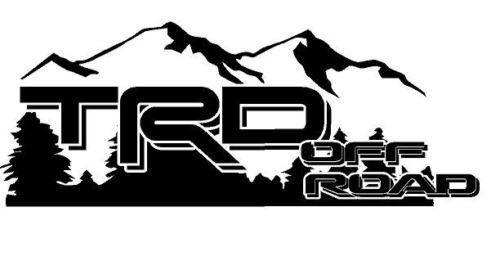 2 -TRD OFF ROAD Mountain OFF ROAD EDITION Decal - Vinyl decal Outdoor vinyl
