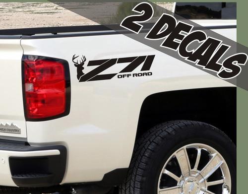 2 - Z71 Offroad Decals Deer Jacht voor Chevrolet Silverado