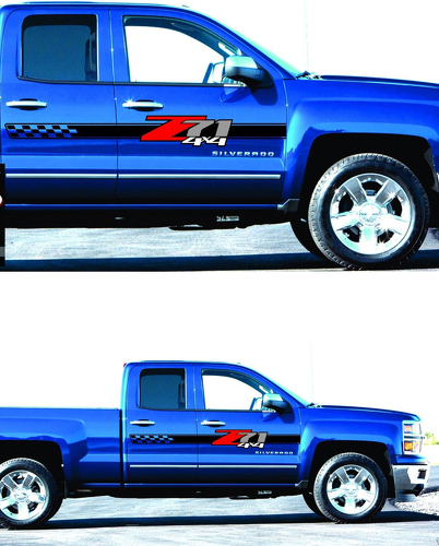 2 -  Z71 Off Road Decals - stickers Parts Chevy Silverado GMC Sierra 4x4 2010-2017