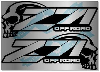 2 X Chevy SKULL Z71 4x4 OFF ROAD Decal Silverado Vinyl Sticker