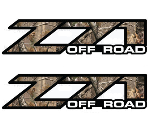 2 Chevy Silverado Z71 Off Road decals Realtree AP Camo stickers 1500