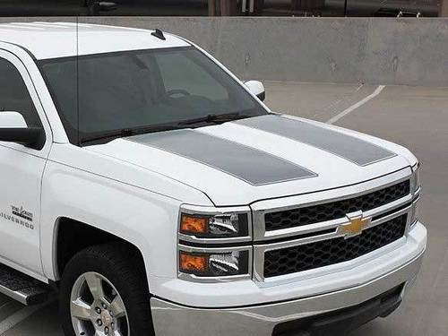 Chevy Silverado Rally Racing hood and tailgate Graphic decals stickers fits models 2013-2015