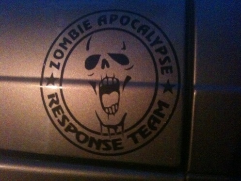 Jeep Rubicon Wrangler Zombie Outbreak Response Team Wrangler Decal#13