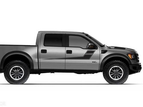 Ford Raptor Truck F-150 Seitenrallye-Streifen Grafik Aufkleber Aufkleber passt Modelle 2010-2014