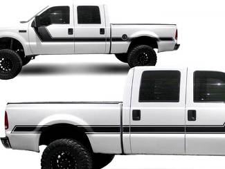 Ford Truck F-250 Side Rally Stripe Graphic decals stickers fits models 1999-2006