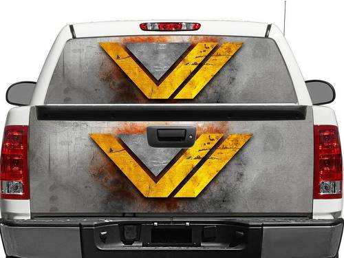Wonder Women WW DC Comics metal texture Rear Window OR tailgate Decal Sticker Pick-up Truck SUV Car