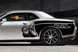 Dodge Challenger Side Scat Pack Wrap Kit Graphic decals stickers fits models 2015-2020 Scatpack