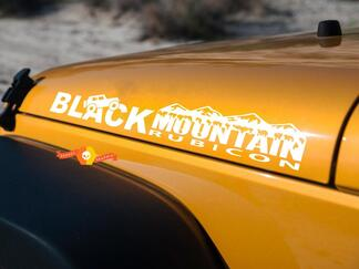 Jeep Black Mountain Rubicon hood side Graphic decals stickers fits all models
