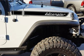 Wrangler Retro Hood Decal Kit for your Jeep Wrangler JK (2007-2018)