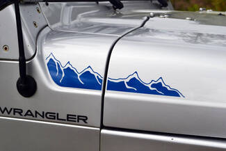 Jeep Hood Side Hood Mountain Decal Vinyl Graphic JK Renegade