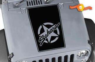 Jeep Hood Decal Wrangler Large Blackout Hood Vinyl Rubicon Sahara JK LJ TJ #1