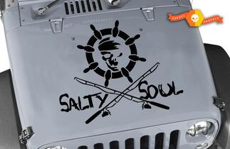 Salty Soul Life Custom Vinyl Graphic Decal Jeep Hood
