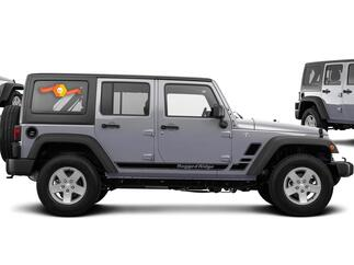 Rugged Ridge Jeep Wrangler Vinyl Side Decals