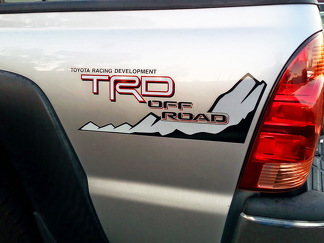 Toyota Racing Development TRD OFF ROAD 4X4 bed side Mountains Graphic decals stickers