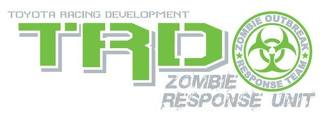 Toyota Racing Development TRD Zombie Response Unit edition 4X4 bed side Graphic decals stickers