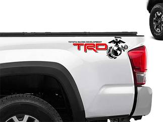 Toyota Racing Development TRD USMC edition 4X4 bed side Marines Graphic decals stickers
