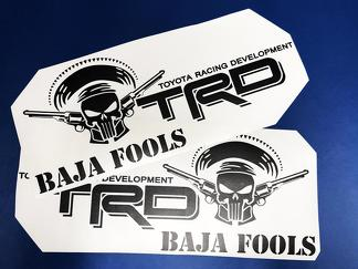 Toyota Racing Development TRD BAJA FOOLS Punisher edition 4X4 bed side Graphic decals stickers