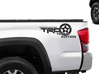 Toyota Racing Development TRD US TEXAS edition 4X4 bed side Graphic decals stickers 2