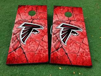 Atlanta Falcons football Cornhole Board Game Decal VINYL WRAPS with LAMINATED