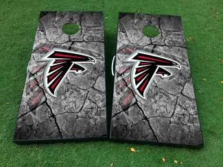 Atlanta Falcons football 2 Cornhole Board Game Decal VINYL WRAPS with LAMINATED
