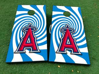 Los Angeles Angels baseball Cornhole Board Game Decal VINYL WRAPS with LAMINATED